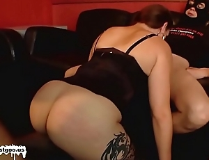 Dirty MILF with a big hindquarters is a sperm collector - German Goo Girls