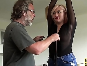 British skank squirts before spunked close by mouth