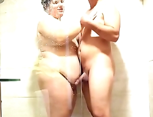 Shagging in the shower and cum mouth. SAN040