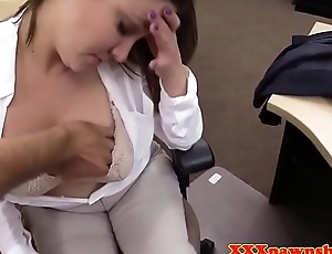 Cocksucking pawn spoil pussyfucking for cash