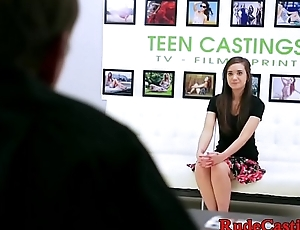Beautiful teen roughfucked at brutal casting