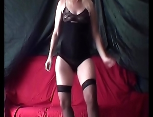 I dance and flash my clit for you...naught wife