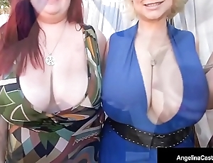 Cuban Angelina Castro! Foursome Blowjob and 6 huge TITS!