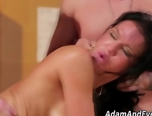 Dped milf gets facialized
