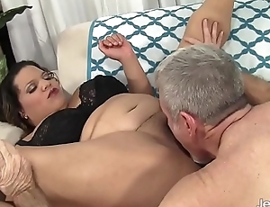 Lady Tad takes fat white cock