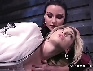Two anal Vampires in threesome strap on
