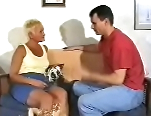 Mature British Granny short blonde become angry Gets Fucked by Two Younger Men- wtk