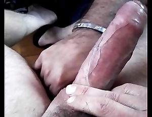 Teasing and edging fat steadfast XL cock
