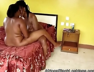 Gorgeous big stacked African lezzie gets say no to pussy pumped by BBWathroom-4