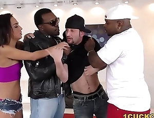 Amara Romani Double Penetrated by BBCs - Cuckold Sessions