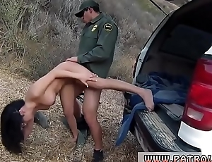 Cop shop and interracial first time Staggering Mexican floozie