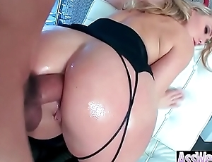 Anal Sex Chapter With Hot Big Butt Oiled Piece of baggage (AJ Applegate) video-03