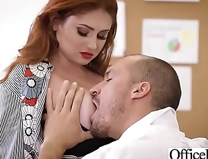 Hard Bang On Cam In Office With Broad in the beam Round Tits Girl (Lennox Luxe) video-19
