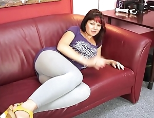 FakeShooting  Busty fat spoil jump on cock in a second on fake shed