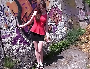 Cremapie in sunny day in public be advisable for super skinny babe
