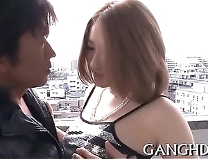 Sensational oriental group fucking