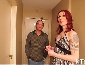 Merciless fuck be expeditious for a horny ladyboy