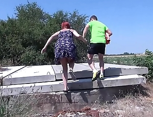 MyFirstPublic  Skinny consequential redhead eat whole cock and all the cum outdoor