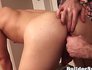 Submisive twink ass stuffed with big toys