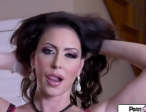 Pornstar Tease - Jessica gets naked coupled with masturbate to be sure