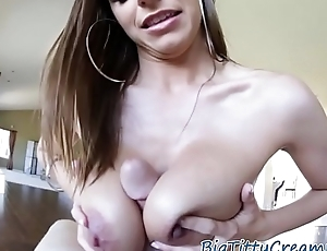 Busty babe titfucked in POV action