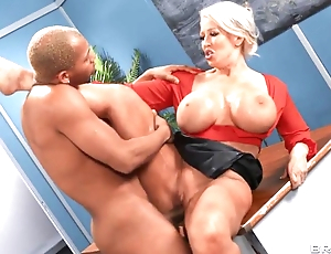 Horny MILF teacher gets takes young BBC relating to conglomeration