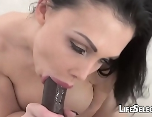 Aletta The drink flood Fucks coupled with Sucks Big Black Cock in POV