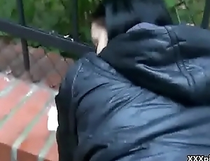 Public Hardcore Blowjob And Fuck Video For Money In Europe 28