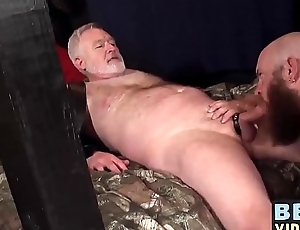 Hot and big daddies fucking in an evil lock-up with regard to grandpa
