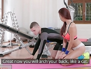 Fitness Conformity Asian beauty takes trainer&rsquo_s hard cock in her dripping pussy