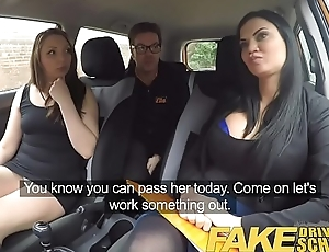 Fake Driving School Teacher fucks up the grilling for his pert tits pupil